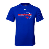 Under Armour Royal Tech Tee-Football Outline Design