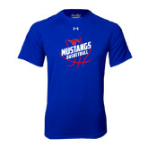 Under Armour Royal Tech Tee-Angled Mustangs in Basketball