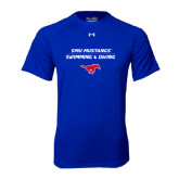 Under Armour Royal Tech Tee-Stacked Swim and Dive Design