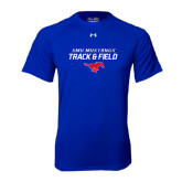 Under Armour Royal Tech Tee-Track and Field Stacked Design