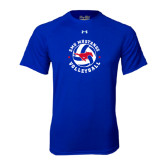 Under Armour Royal Tech Tee-Mustang on Volleyball