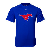 Under Armour Royal Tech Tee-Official Outlined Logo
