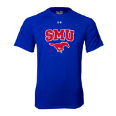Under Armour Royal Tech Tee-SMU w/Mustang