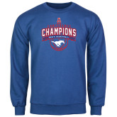 Royal Fleece Crew-2017 AAC Conference Champions - Mens Basketball Arched Banner