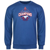 Royal Fleece Crew-2017 AAC Conference Champions - Mens Basketball Arched Net