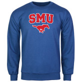 Royal Fleece Crew-SMU w/Mustang