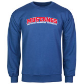 Royal Fleece Crew-Arched Mustangs