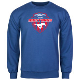 Royal Fleece Crew-Mustangs in Shield