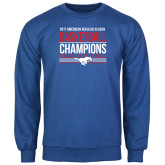 Royal Fleece Crew-2017 AAC Regular Season Mens Basketball Champions Stacked