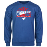 Royal Fleece Crew-2017 AAC Regular Season Champs - Mens Basketball Half Ball