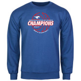 Royal Fleece Crew-AAC Regular Season Champions 2017 Mens Basketball Lined Ball