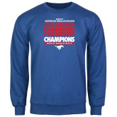 Royal Fleece Crew-2017 AAC Regular Season Champions Repeating - Mens Basketball