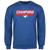 Royal Fleece Crew-2017 AAC Regular Season Champions - Mens Basketball Stencil