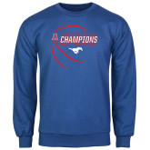 Royal Fleece Crew-2017 AAC Conference Champions - Mens Basketball Contour Lines