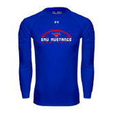 Under Armour Royal Long Sleeve Tech Tee-Arched Football Design