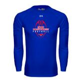 Under Armour Royal Long Sleeve Tech Tee-Tall Football Design
