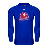Under Armour Royal Long Sleeve Tech Tee-Player on Basketball Design