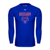 Under Armour Royal Long Sleeve Tech Tee-Stacked Basketball Design