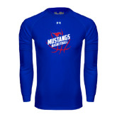 Under Armour Royal Long Sleeve Tech Tee-Angled Mustangs in Basketball