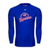 Under Armour Royal Long Sleeve Tech Tee-Script Equestrian