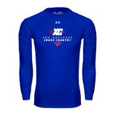 Under Armour Royal Long Sleeve Tech Tee-Stacked Cross Country Design