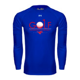 Under Armour Royal Long Sleeve Tech Tee-Stacked Golf Design