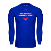 Under Armour Royal Long Sleeve Tech Tee-Stacked Swim and Dive Design