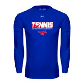 Under Armour Royal Long Sleeve Tech Tee-Tennis Design
