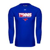 Under Armour Royal Long Sleeve Tech Tee-Tennis Design
