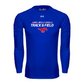 Under Armour Royal Long Sleeve Tech Tee-Track and Field Stacked Design