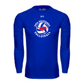 Under Armour Royal Long Sleeve Tech Tee-Mustang on Volleyball