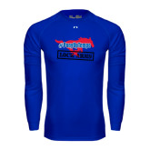 Under Armour Royal Long Sleeve Tech Tee-#PonyUpTempo Lock Arms
