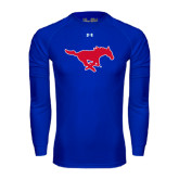 Under Armour Royal Long Sleeve Tech Tee-Official Outlined Logo