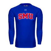 Under Armour Royal Long Sleeve Tech Tee-Block SMU