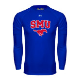 Under Armour Royal Long Sleeve Tech Tee-SMU w/Mustang