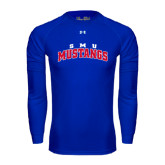 Under Armour Royal Long Sleeve Tech Tee-Arched SMU Mustangs