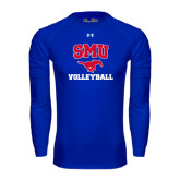 Under Armour Royal Long Sleeve Tech Tee-Volleyball