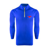 Under Armour Royal Tech 1/4 Zip Performance Shirt-Official Outlined Logo