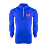 Under Armour Royal Tech 1/4 Zip Performance Shirt-SMU w/Mustang