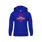 Youth Royal Fleece Hoodie-Tall Football Design