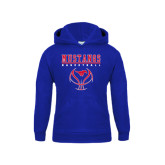 Youth Royal Fleece Hoodie-Stacked Basketball Design