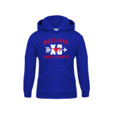 Youth Royal Fleece Hoodie-Cross Country Design