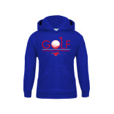 Youth Royal Fleece Hoodie-Stacked Golf Design
