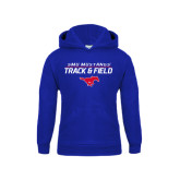 Youth Royal Fleece Hoodie-Track and Field Stacked Design