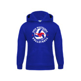 Youth Royal Fleece Hoodie-Mustang on Volleyball