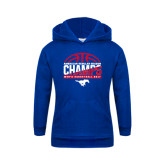 Youth Royal Fleece Hoodie-2017 AAC Regular Season Champs - Mens Basketball Half Ball