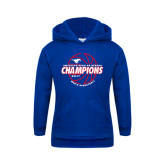 Youth Royal Fleece Hoodie-AAC Regular Season Champions 2017 Mens Basketball Lined Ball