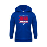 Youth Royal Fleece Hoodie-2017 AAC Regular Season Champions Repeating - Mens Basketball