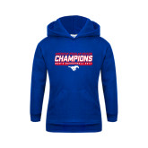 Youth Royal Fleece Hoodie-2017 AAC Regular Season Champions - Mens Basketball Stencil