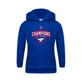 Youth Royal Fleece Hoodie-2017 AAC Conference Champions - Mens Basketball Arched Banner